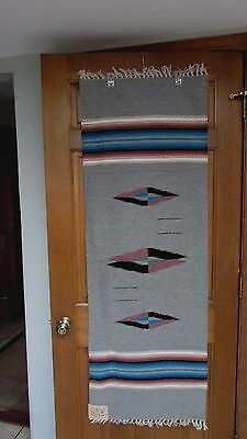 CHIMAYO RUNNER/WALL HANGING NWT. GREAT COLORS 20x60 PURCHASED IN SANTA FE, N.M.