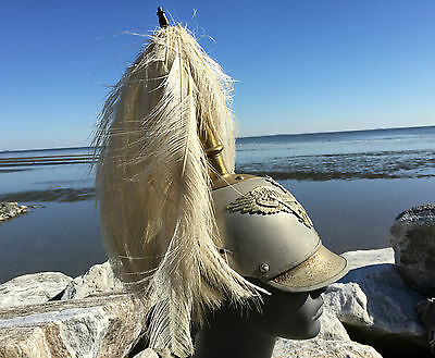 WWI German Prussian Cuirassier Pickelhaube Helmet RARE Parade Feather Plume WW1