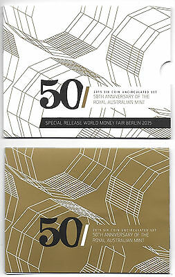 Royal Australian Mint 2015 50th Anniversary Uncirculated Coin Set - Free Postage