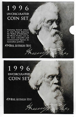 Royal Australian Mint 1996 Uncirculated Six Coin Set #2 - Free Postage
