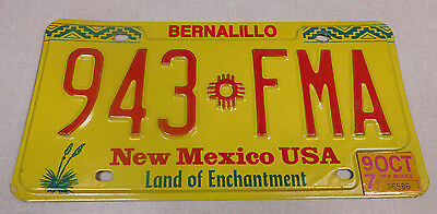1997 New Mexico passenger car license plate