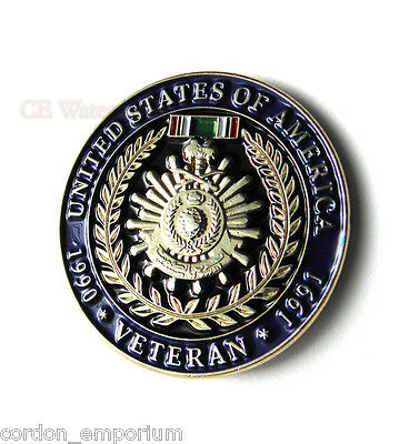 Operation Desert Storm Gulf War Veteran 1990 1991 USA Lapel Pin Badge 1 inch