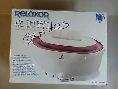 Relaxor Spa Therapy DELUXE Paraffin Wax Bath, PWB8F. Brand new, see description