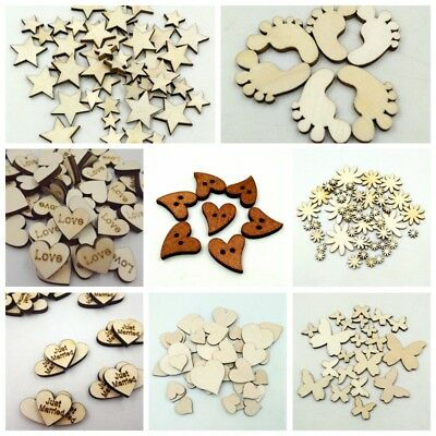 Hot DIY Scrapbooking Wooden Love Wood Cutout Craft Embellishment Christmas Gift