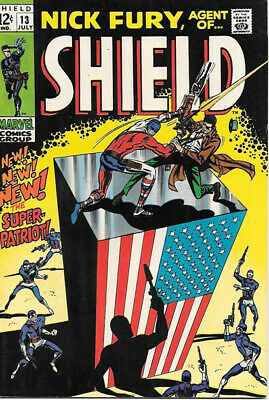 Nick Fury, Agent of SHIELD Comic Book #13, Marvel Comics 1969 FINE/FINE+