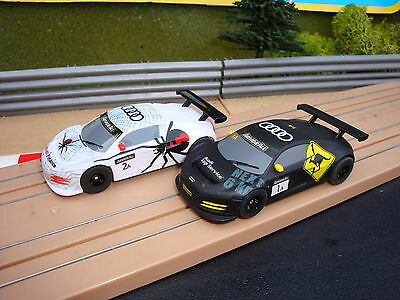 Pair Of Mint Used Micro Scalextric Audi Cars - Loads More Cars For Sale