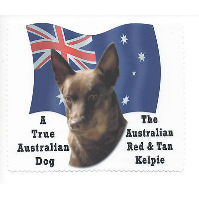 Australian Kelpie Red Tan Flag Glasses cleaning cloth Sunglasses Single sided