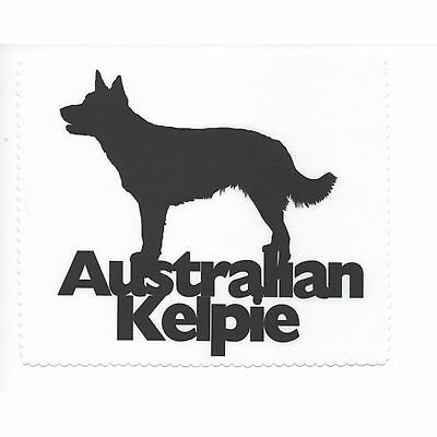 Australian Kelpie Silhouette Glasses cleaning cloth Sunglasses Single sided