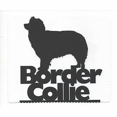 Border Collie Silhouette Glasses cleaning cloth Sunglasses Single sided