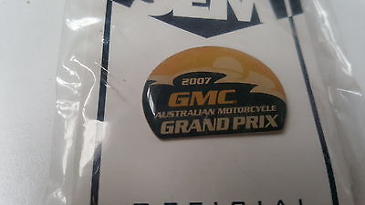 2007 GMC Australian MOTORCYCLE GRAND PRIX Official  PIN  BADGE