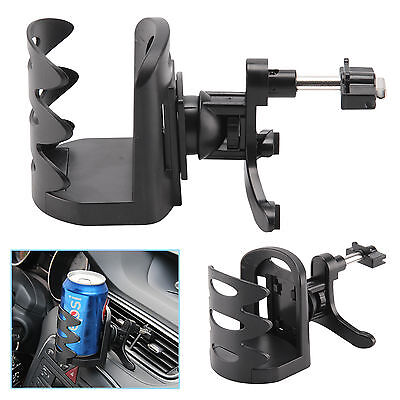 Universal Auto Car Air Vent Mount Beverage Drink Cup Bottle Holder Stand Black