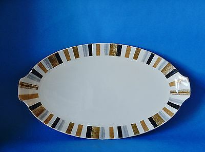 MIDWINTER QUEENSBURY OVAL SANDWICH PLATE 12.25 x 7 INCHES