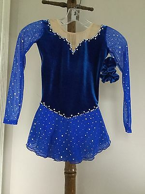 Icings NWT CXS ROYAL BLUE TEST/ COMPETITION  ICE FIGURE ICE SKATING DRESS