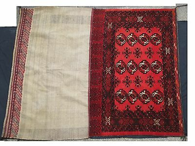 DV6892 TAPIS ANTIQUE AFGHAN CAMEL BAG CARPET 1.70 m X 2m TRES BON ETAT