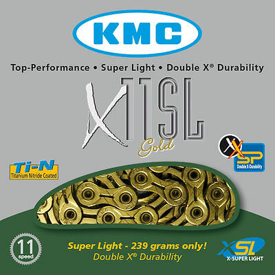 KMC X11SL Gold 11 Speed Chain For Campagnolo / Shimano / Sram