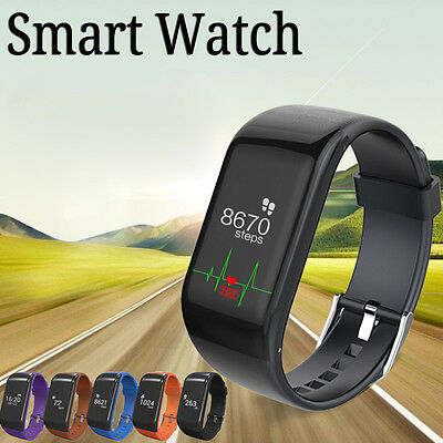 R1 Bluetooth Smart Watch Bracelet Heart Rate Pedometer Fitness Activity Tracker