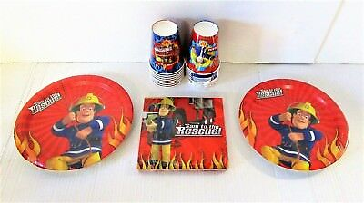 Fireman Sam Tableware Party Pack for 16 Guests - Plates Cups Napkins