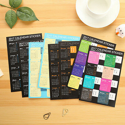 1 Sheet Cartoon DIY Calendar Diary Book Sticker Scrapbook Decoration Planner CAH
