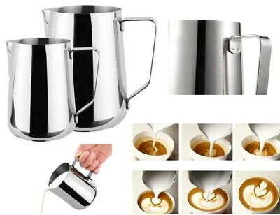 Latte / Milk Jug Stainless Steel Cappuchino Coffee Espresso Tea Frothing Foam