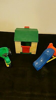 Little Tikes Cottage Play House, Slide, & Tractor Dollhouse Size