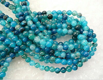 UKcheapest-blue dragonvein agate round 6mm gemstone beads