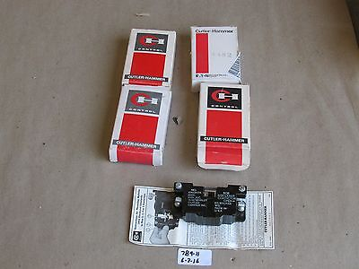 Lot Of 4 New In Box Cutler Hammer 10933H7A Aux. Contact