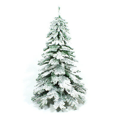 7Ft 2.1M Indoor Snow Covered Flocked Downswept Artificial Christmas Xmas Tree