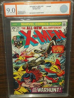 Uncanny X-Men #95 Egc Graded ( 9.0 ) Off White To White Pages Euro Grader