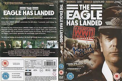 THE EAGLE HAS LANDED - personally signed DVD COVER -  MICHAEL CAINE