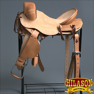 Bx201Bz-F Hilason Classic Series Hand-Made Rodeo Bronc Riding Saddle 16""