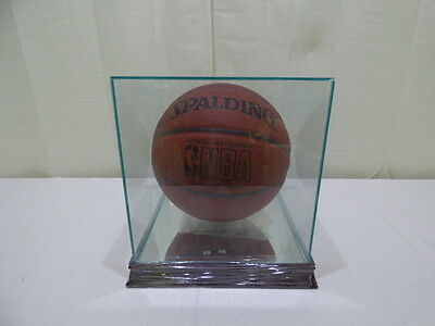 Kareem Abdul-Jabbar Signed Spalding Official Game Basketball With Glass Case