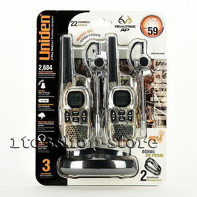 Uniden GMR3799-2CKHS GMRS/FRS Walkie Talkie Two-Way Radios w/Camouflage Headsets