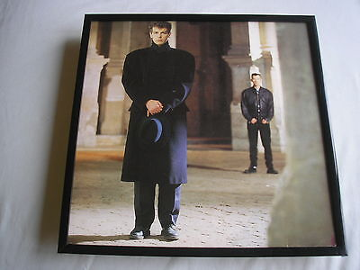 """PET SHOP BOYS It's A Sin 12"""" cover framed for wall mounting black/silver/walnut"""