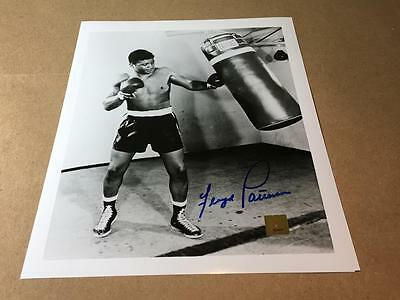 FLOYD PATTERSON Boxing Training Autograph Signed Photo 8x10