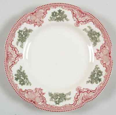 Johnson Brothers OLD BRITAIN CASTLES PINK CHRISTMAS Accent Salad Plate 4654184