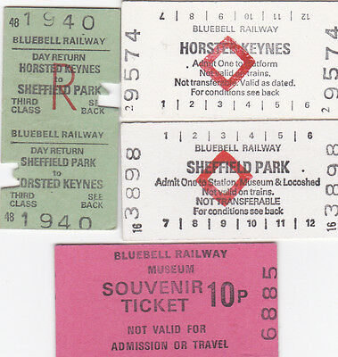 Four Bluebell Railway Tickets