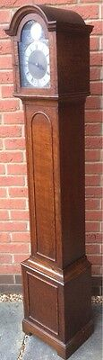 Rare 1930's Oak Grandfather Grandmother Longcase Electric Clock