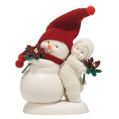 Snowbabies You're The Best Gift of All Features a real knitted hat Figurine