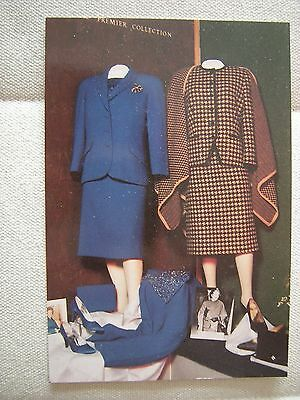 Two Outfits From Margaret Thatcher's Personal Wardrobe Postcard