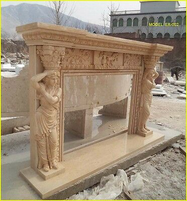 """FromFactoryToU! Customize Own Marble Fireplace Mantel """"CONTACT US BEFORE BUY"""""""