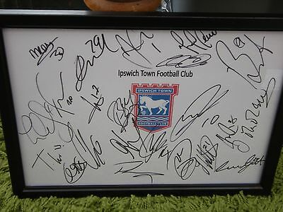 Ipswich Town  F.c Framed Hand Signed Squad Sheet 2016/17