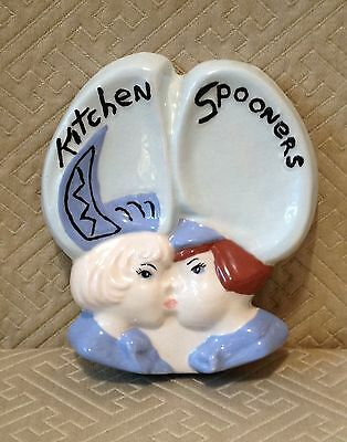 Vintage Kitchen Spoon Rest Kissing Dutch Boy& Girl Spooners