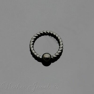 18G 6Mm Black Pvd Surgical Steel Cbr Bcr Ear Nose Lip Septum Helix Captive Ring
