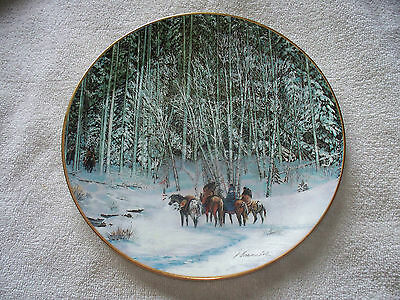Touching Spirit Marking Tree Julie K. Cole Indian Horse Collector Plate