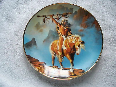Hermon Adams Spirit Of The South Wind Indian Horse Collector Plate