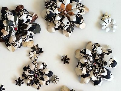 7+ Handmade Cafe Latte Paper Flowers #2 Perfect for Scrapbooking, Cards, etc