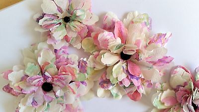 10 x Handmade Watercolour Blossoms - 3 Sizes - Scrapbooking, Cards etc