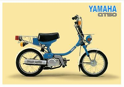 YAMAHA Poster QT50 Classic Moped Suitable to Frame