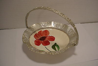 Blue Ridge Bowl with hammered Aluminum basket Small Flower