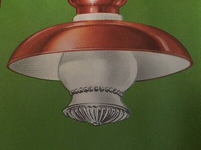 Vintage NEW OLD STOCK IN BOX Antique Copper Ceiling Light fixture 1966